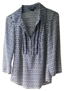 Lucky Brand Top Dark blue and tan