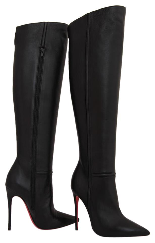 b15d3ad45bf6 Christian Louboutin Black New 35it Armurabotta Nappa Thigh High Over ...