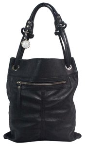 Lanvin Knot Lambskin Leather Tote in Black