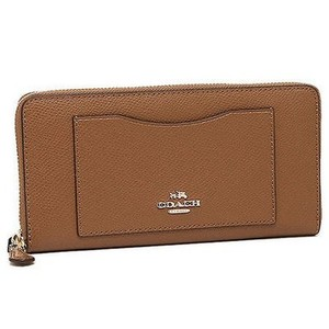 Coach Accordion Leather Wallet Phone Clutch Fits Checkbook Saddle Brown