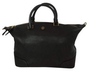 Tory Burch Slouchy Pebbled Leather Satchel Cross Body Bag