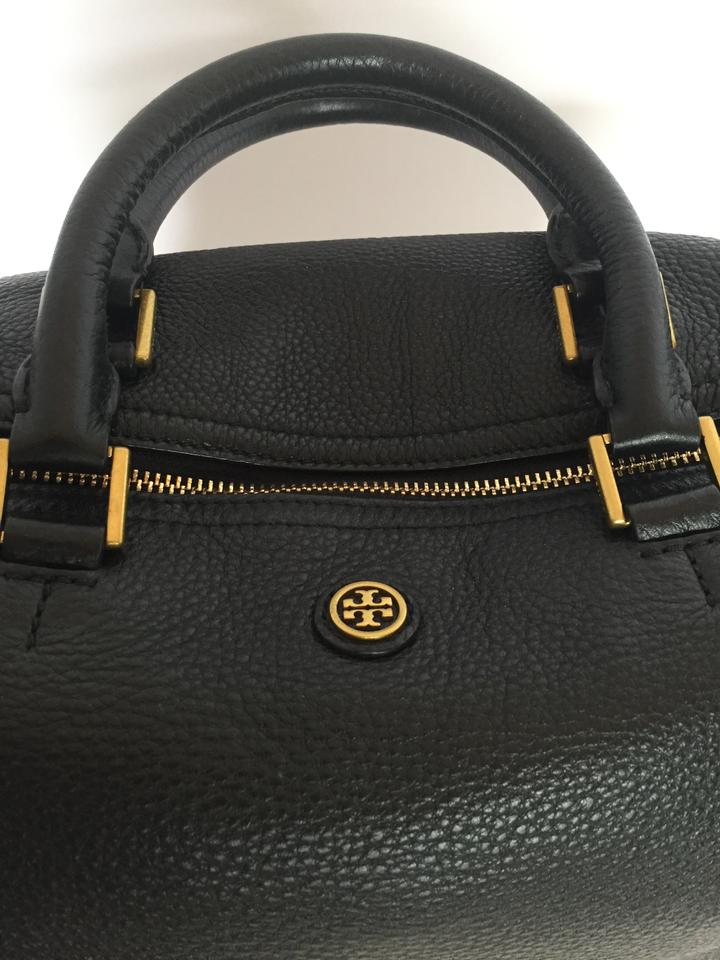 4f2d37bc572 Tory Burch Frances Satchel Black Pebbled Leather Cross Body Bag ...