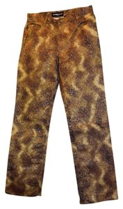 Express Camouflage Stretch Sparkle Boot Cut Jeans-Light Wash