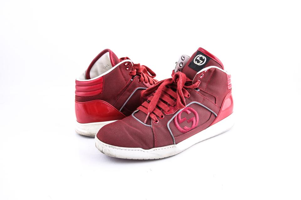 f6d267d844d Gucci   High-top Sneakers Bailing Fabric Rosso Shoes Image 0 ...