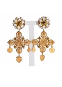 Dolce&Gabbana Dolce and Gabbana gold earrings Sicily religious clip on