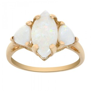 Avital & Co Jewelry 10k Yellow Gold 1.90 Carat Opal Ring