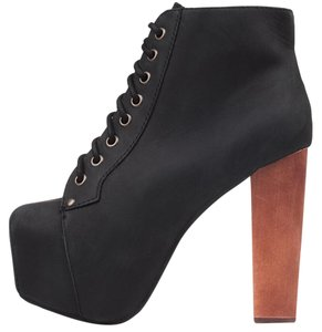 Jeffrey Campbell Distressed Black Boots
