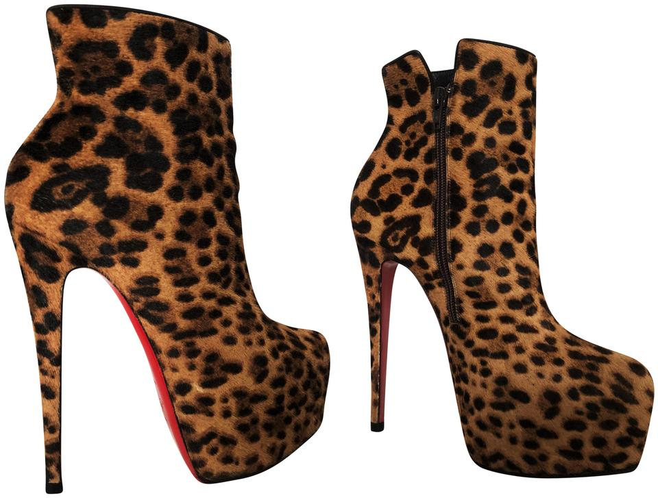 2c80e3d58974 Christian Louboutin Pigalle Thigh High Spikes Studs Ankle Pump leopard-print  Boots Image 0 ...