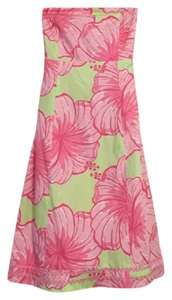 Lilly Pulitzer short dress Pink and Green on Tradesy