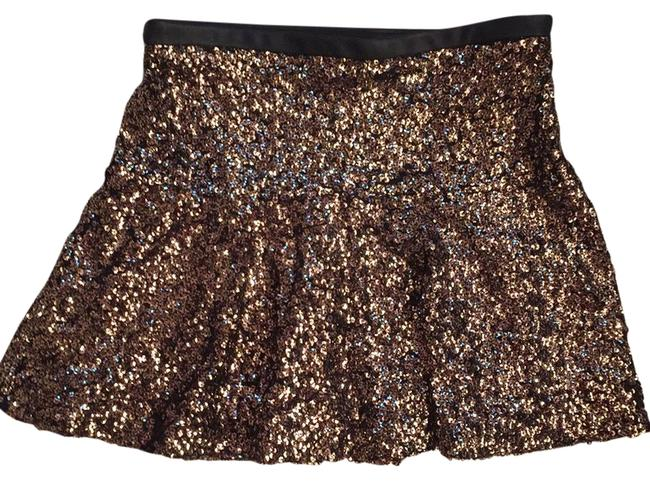 Item - Gold Sequined Mini Skirt Size 0 (XS, 25)