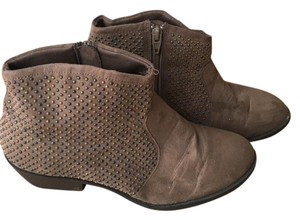 JustFab Studded Comfortable Suede Look Brown Boots