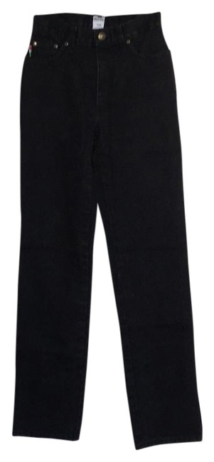 Item - Black Dark Rinse Vintage 1990s By Straight Leg Jeans Size 26 (2, XS)