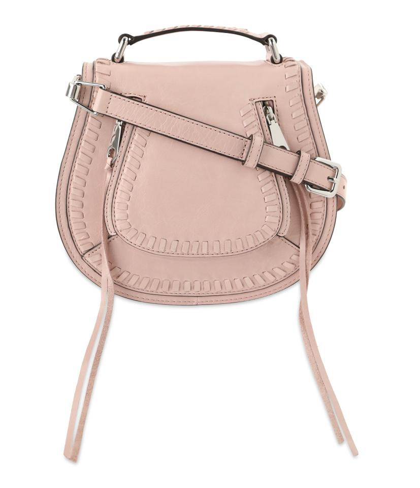6c0b6a583 Rebecca Minkoff Small Vanity Saddle Lilac Rose Pink Leather Cross Body Bag