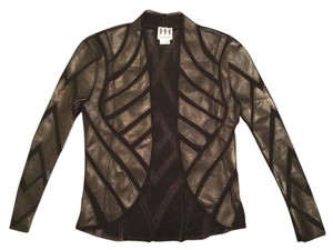 Haute Hippie Mesh Extra Small Hot Sexy Motorcycle Xs Leather Jacket
