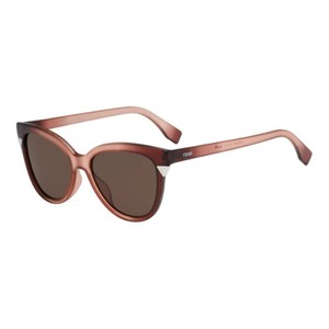 Fendi NEW Fendi FF0125 Matte Ombre Red Cat Eye Sunglasses