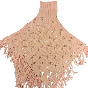 French Connection pink sweater poncho