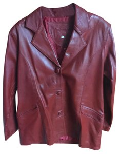 Handmade Red Leather Jacket