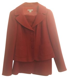 Ann Taylor Red wool skirt suit