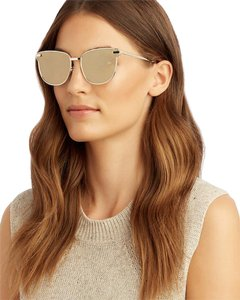 Le Specs LE SPECS Pharaoh cat-eye Gold plated Mirrored Sunglasses metal