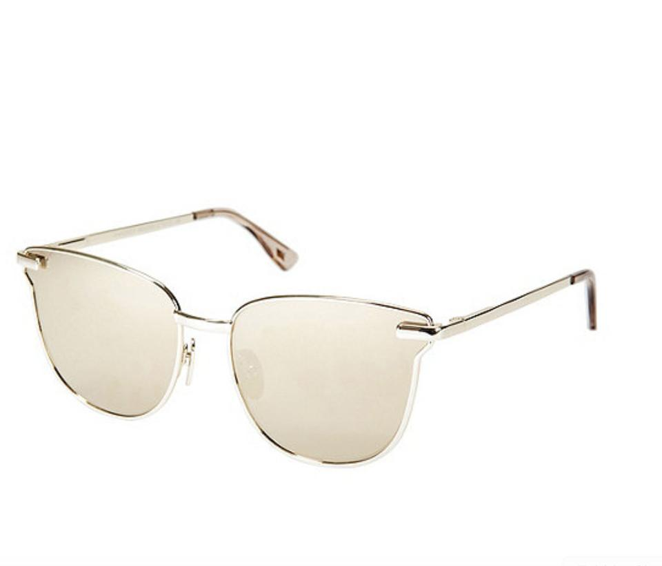 bd025736f0ca5 Le Specs LE SPECS Pharaoh cat-eye Gold plated Mirrored Sunglasses metal  Image 5. 123456