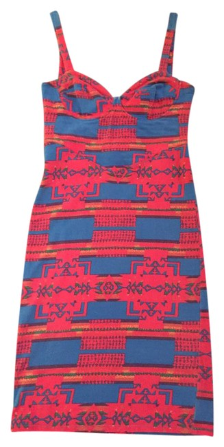 Item - Pink/Multi Bodycon Short Night Out Dress Size 2 (XS)