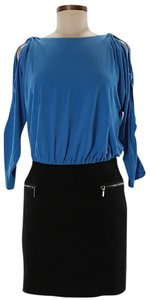Laundry by Shelli Segal Open Color-blocking Combo Ruched Dress