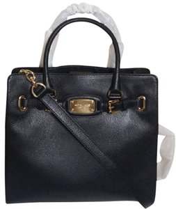 Michael Kors Hamilton Satchel Tote in Black