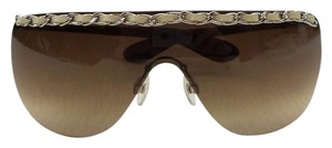 Chanel Chanel 4160-Q Shield Silver Brown Chain collection Sunglasses