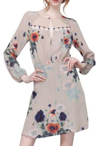Leifsdottir Anthropologie Silk Long Sleeves Dress