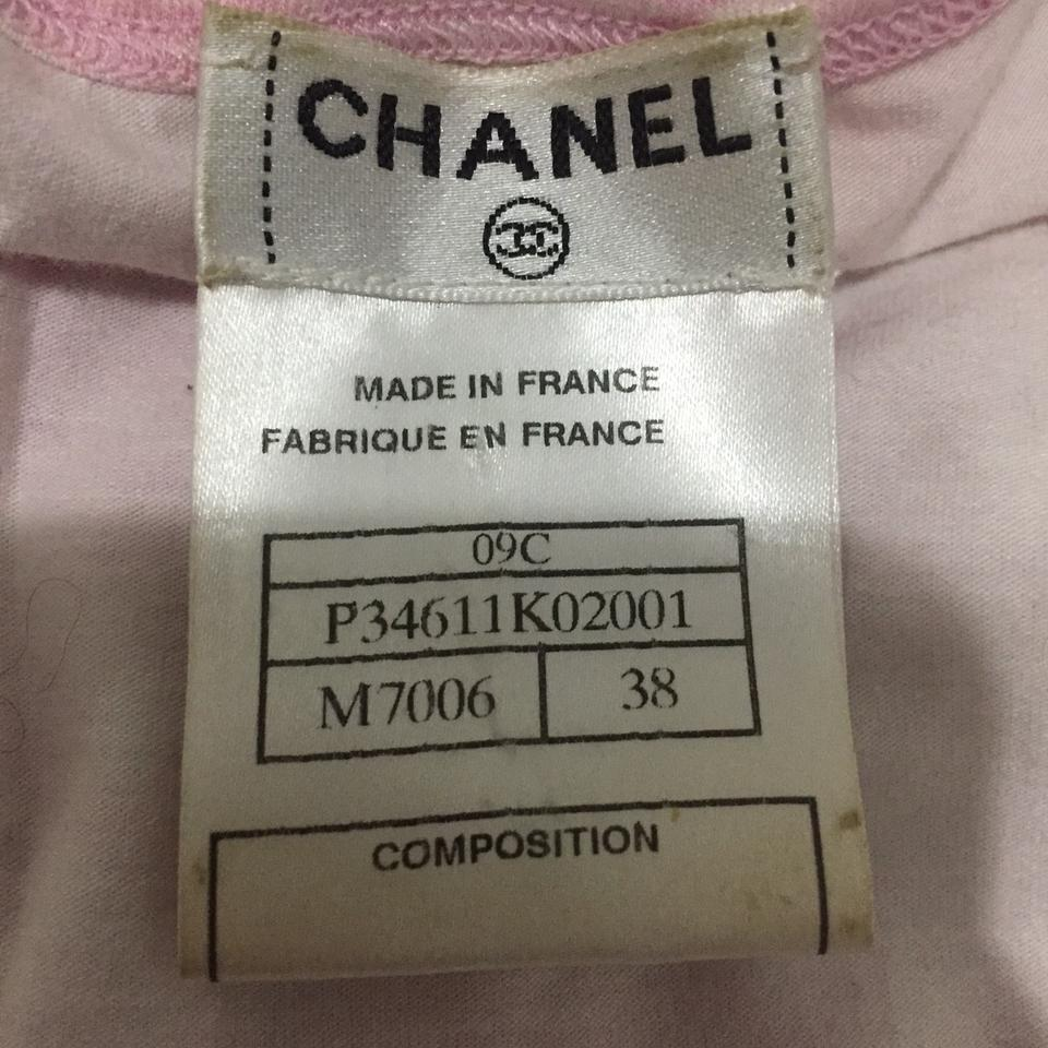 Chanel white pink tie dye printed cc logo t shirt tee for Chanel logo t shirt to buy
