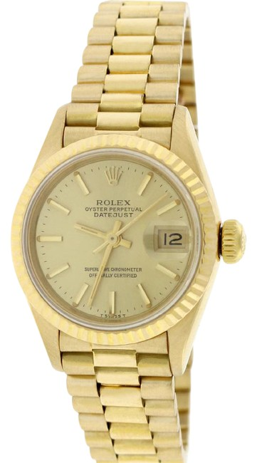 Rolex Box President Ladies Gold Champagne Index Dial 26mm 69178 Box&papers Watch Rolex Box President Ladies Gold Champagne Index Dial 26mm 69178 Box&papers Watch Image 1
