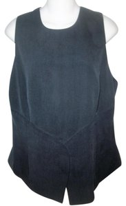 Giorgio Armani 100% Silk Sleeveless Top Black