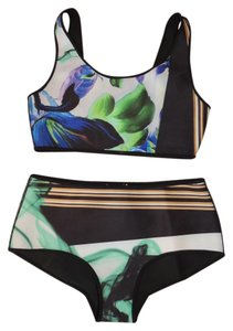 Clover Canyon Womens Clover Canyon XS Reversible 2 Piece Designer Bikini Swimsuit