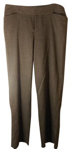 Christopher & Banks Trouser Pants Grey with small patterned charcoal check