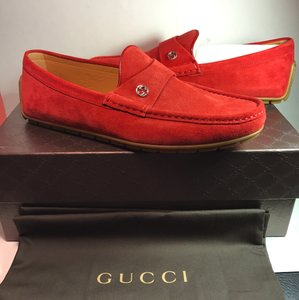 Gucci Gucci 386587 Men's Moccasins Driving Red Rosso Gucci 10/us 11