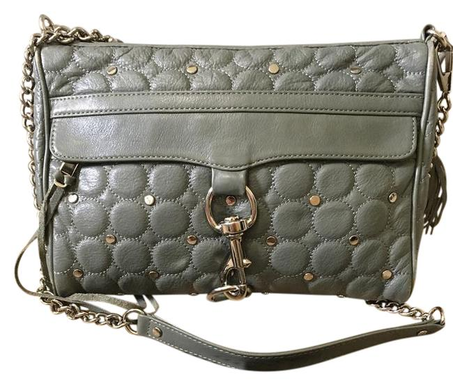 Item - Mac Grey Leather Shoulder Bag