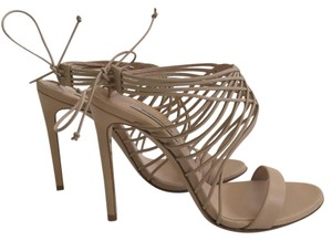 Casadei Leather Nude Beige Beige/Natural Sandals