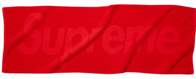 Item - Red Terry Logo Hand Towel Scarf/Wrap