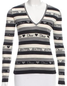 Dior Monogram Diorissimo Longsleeve V-neck Wool Sweater