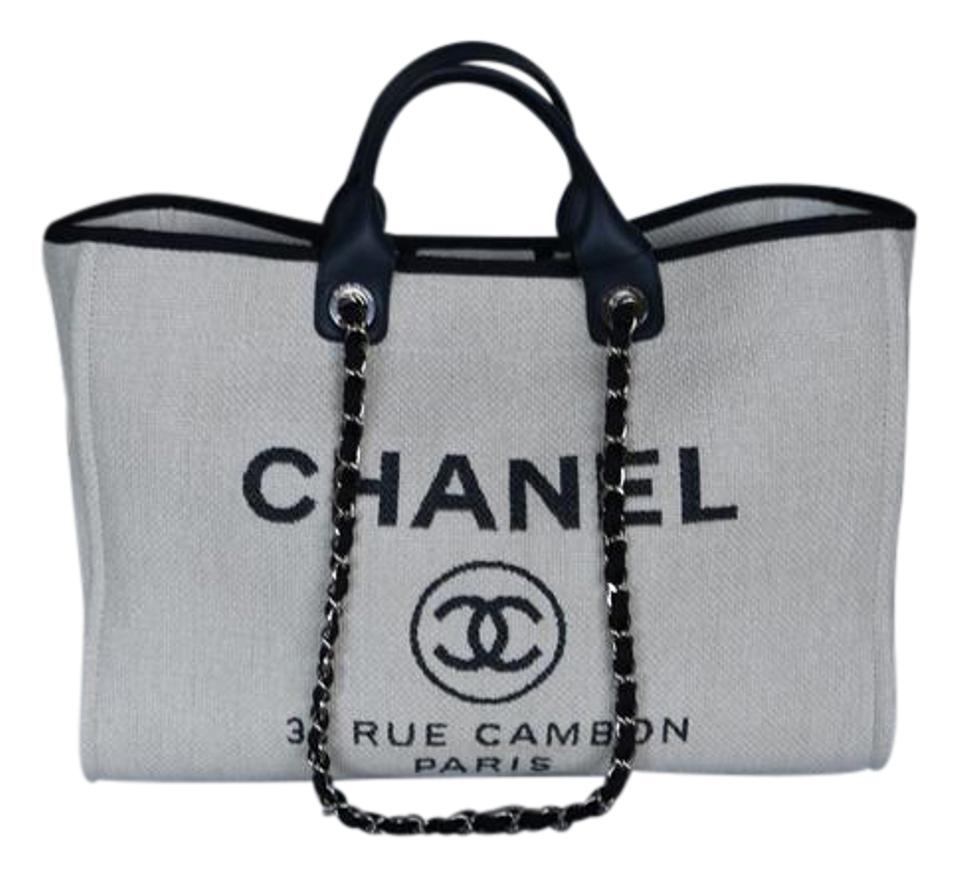87c9bd4760e6 Chanel Deauville Large Deauville 2017 Deauville Deauville Tote in White  Image 0 ...