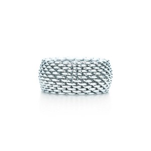 Tiffany & Co. Tiffany & Co. Sterling Silver Somerset Mesh Ring