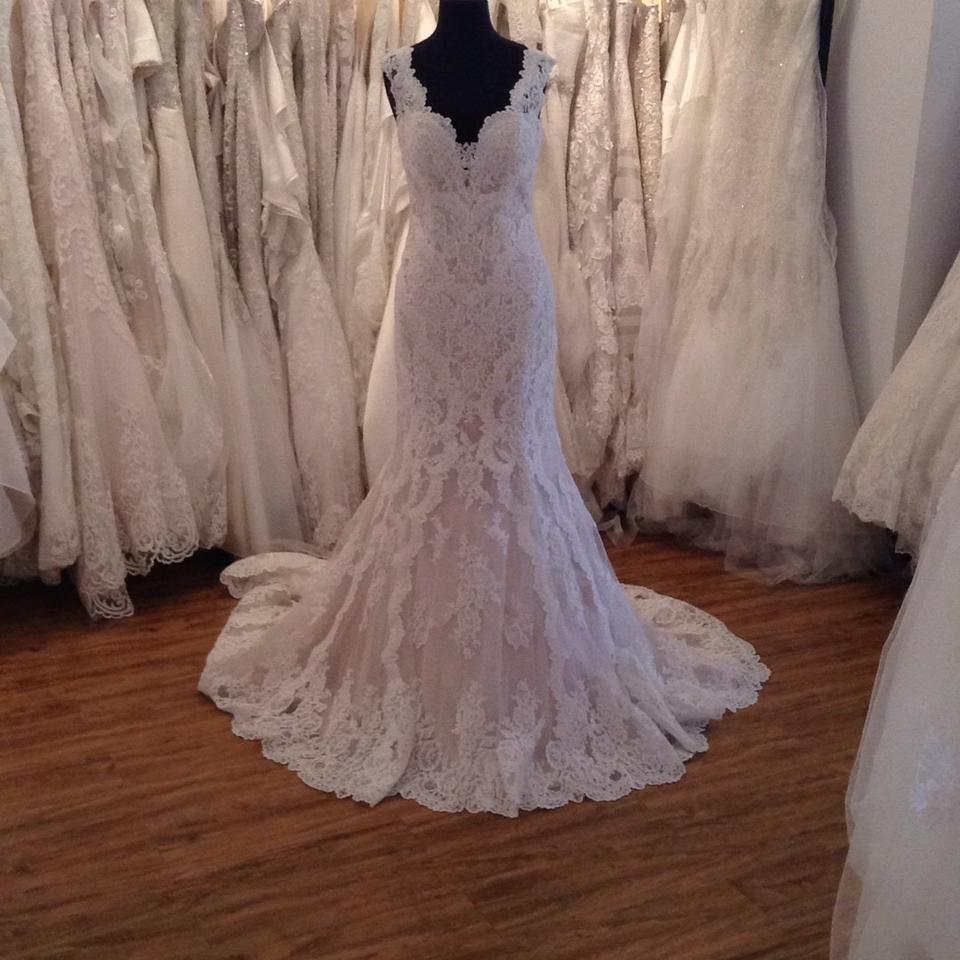 Stella York Ivory Over Champagne Lace 6418zz Formal Wedding Dress ...