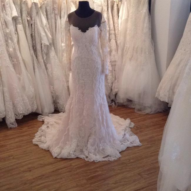 Stella York Ivory Over Champagne Lace 6176zz Formal Wedding Dress Size 10 (M) Stella York Ivory Over Champagne Lace 6176zz Formal Wedding Dress Size 10 (M) Image 1