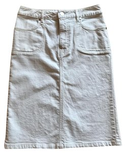 GERARD DAREL Denim Denim Skirt White Denim
