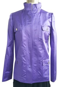 Dolce&Gabbana Silk D&g Satin Purple Blazer