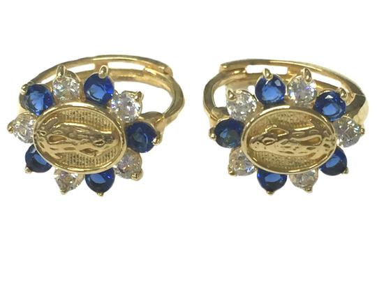 other 14 K Yellow Gold (cz) Sapphire Guadalupe Image 1