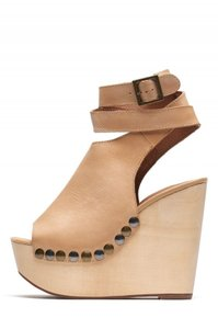 Jeffrey Campbell Boho Wedges Chunky Tan Platforms
