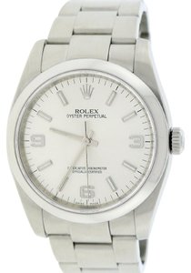 Rolex Rolex Oyster Perpetual Silver Index/Arabic Dial 36mm Watch 116000