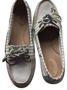 Sperry light blue grey and white Flats