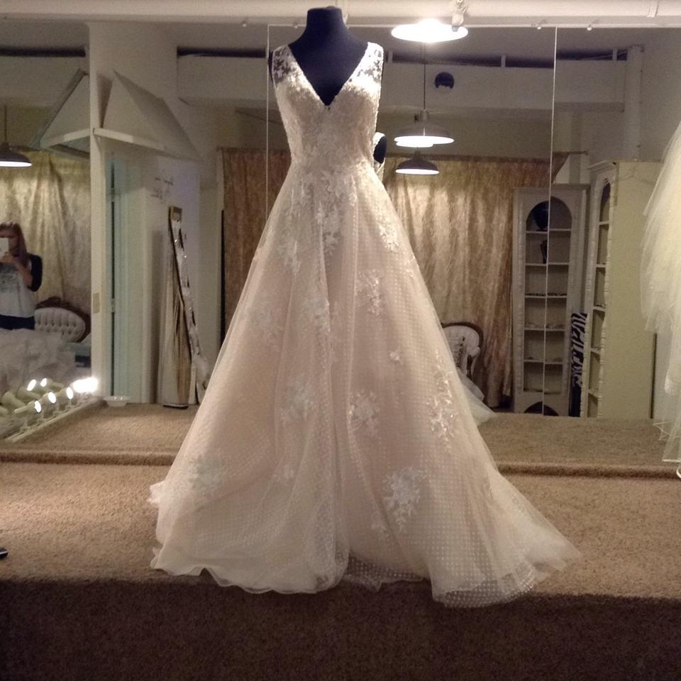 Maggie Sottero Ivory Over Light Gold Tulle and Lace 7ms339 Modern ...